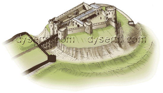 Artist's impression of Dyserth Castle