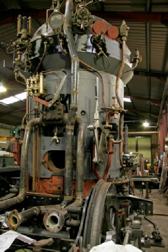 Steam propulsion unit of a Railmotor