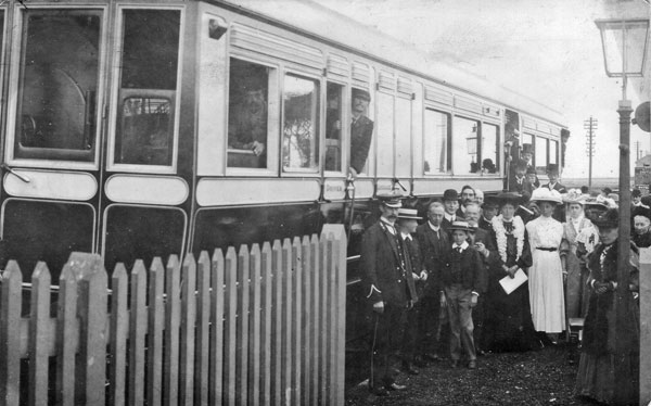 Opening of the railway passenger service between Prestatyn and Dyserth in 1905.