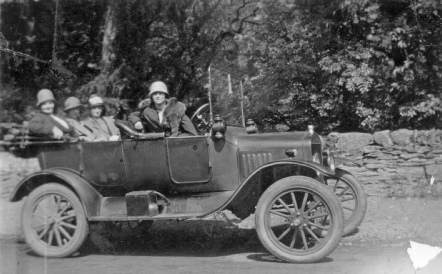 Samuel Jones' car in the 1920s