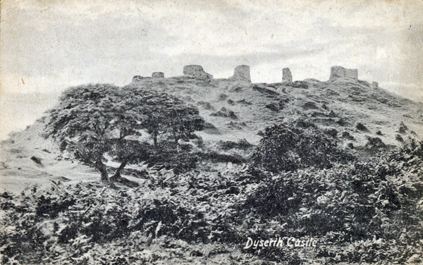 Dyserth Castle, from a postcard posted in 1917