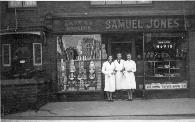 Staff outside Samuel Jones and Son, new shop, Dyserth