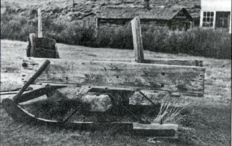 Freight, mail and passenger sled similar to the one used by Roberts in 1883