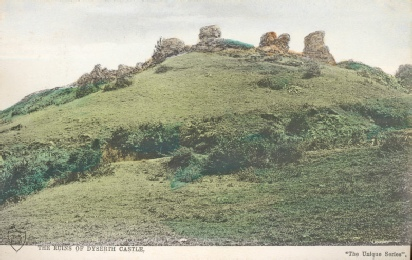 Ruins of Dyserth Castle from a postcard posted in 1911