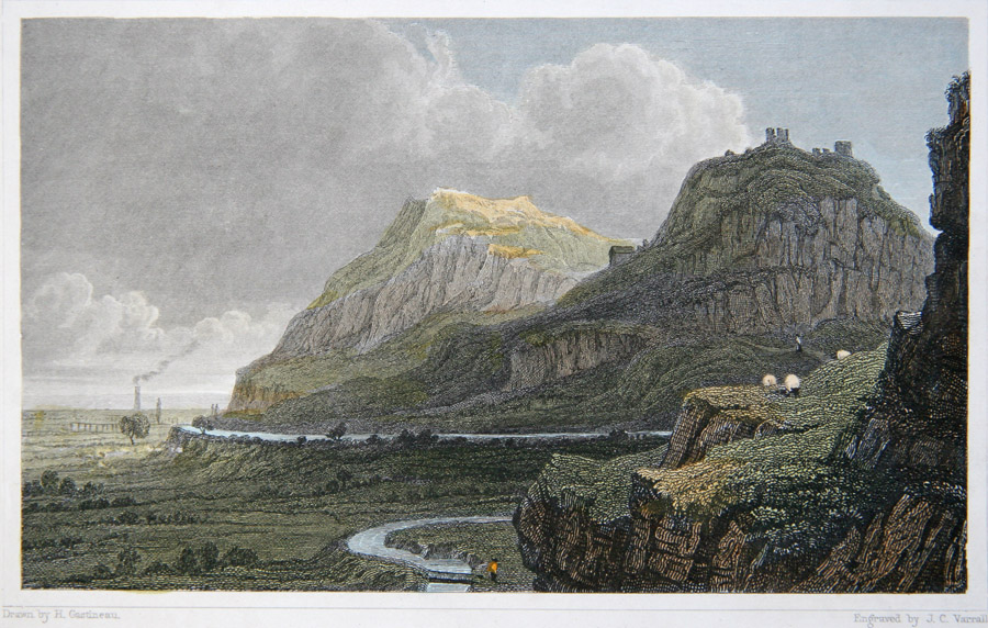 Gastineau print from c1830 showing the 1750s leat to Talargoch, Dyserth