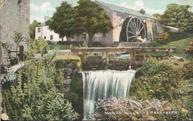 Marian Mills, near Dyserth and Trelawnyd, from a postcard posted in 1906. Felin Fawr and Felin Fach.