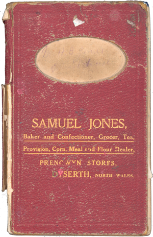 Order book from Samuel Jones, Prengwyn Stores in Dyserth High Street