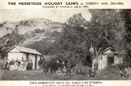 Two dormitory huts at Merseyside Holiday Camp, Dyserth